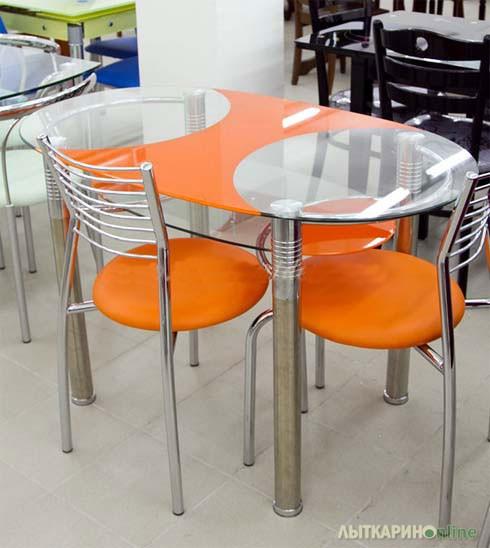Стеклянные кухонные столы в москве на